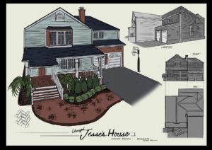 Jesse's house, exterior